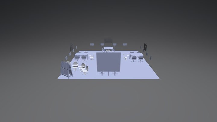 Salle 500 Collaboratif 3D Model