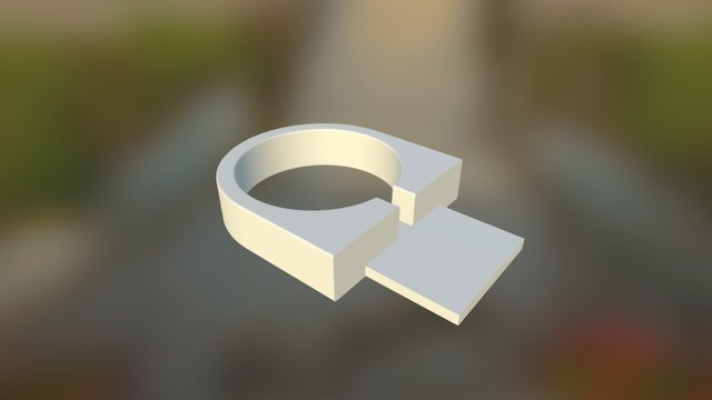 Apple Watch charging cable holder 3D Model