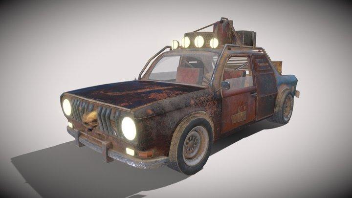 Old Car post-apocaluptic 3D Model
