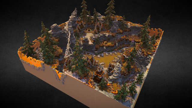 Minecraft - Angeron PvP map 3D Model