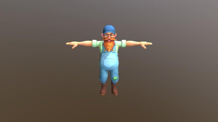 Farmer OldMan 3D Model