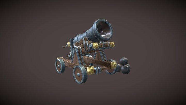 Cannon Stylized 3D Model