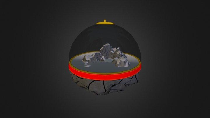 Mountain Christmas Ornament - UCAC4 3D Model