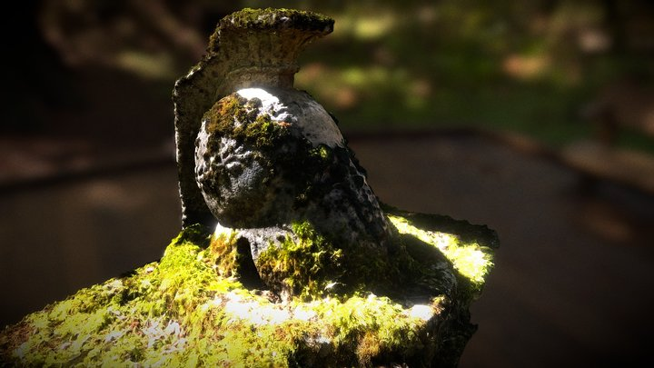 Very Old Roman Soldier Grave in Germany 3D Model