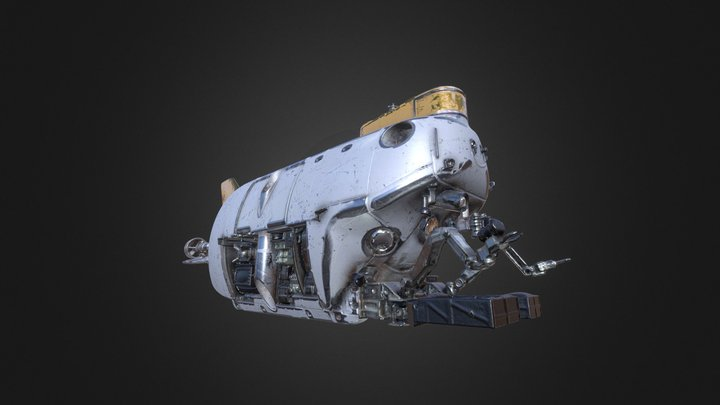 manned research submersible (PBR texture) 3D Model