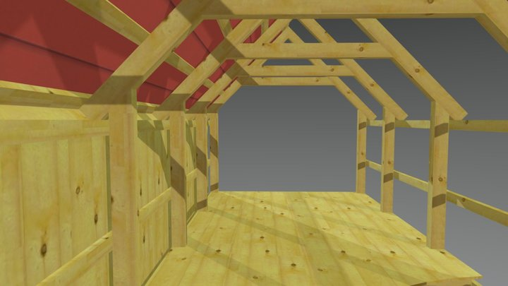 10x20 timber shed 3D Model
