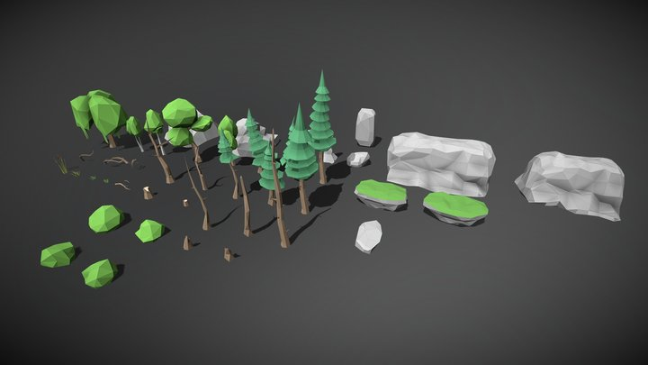 Big nature pack 44 models [will be updated] 3D Model