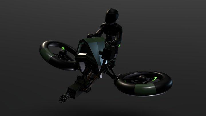 Hover Bike 3D Model