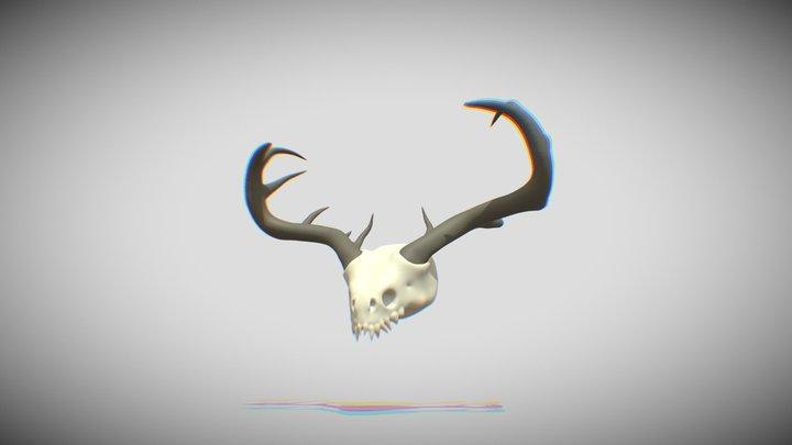 Extinct Creature's Skull 3D Model