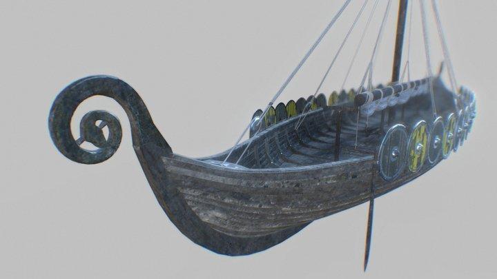 Gokstad Longship 3D Model