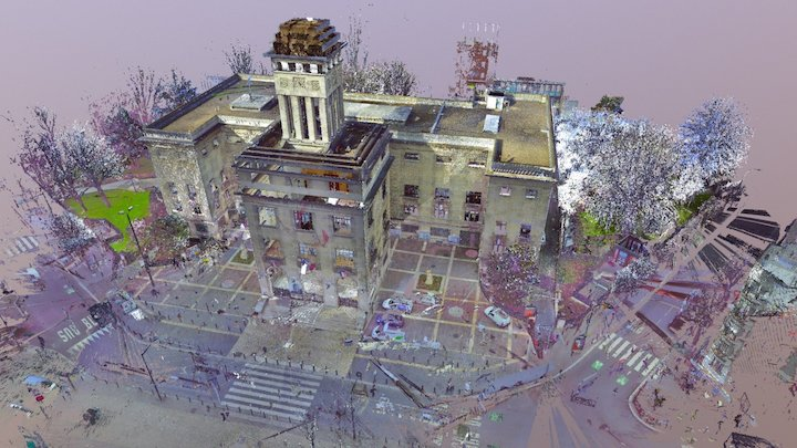 Mairie de Montreuil point cloud 3D Model