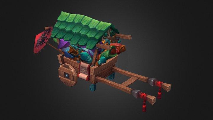 Pandaren fireworks cart 3D Model