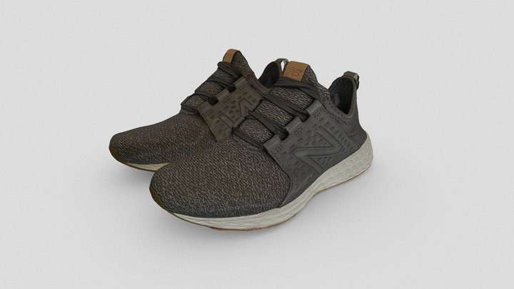 New Balance 1906 Running Shoes Grey - Character 3D Model