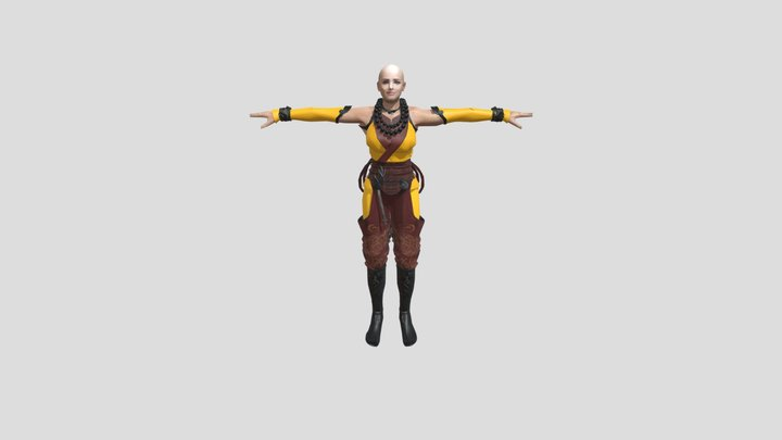 Girl Warrior 3D Model