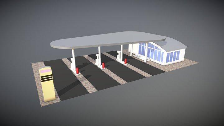 GasStation 3D Model