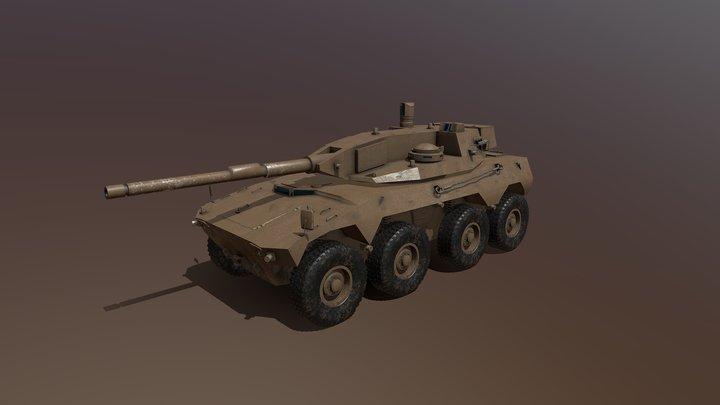 Rookat-120 (SADF) 3D Model
