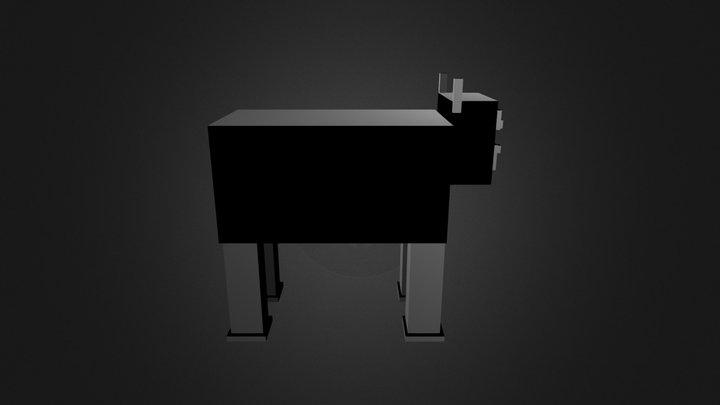 Minecraft Cow 3D Model