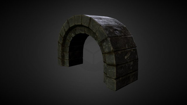 Dungeon Arch 3D Model
