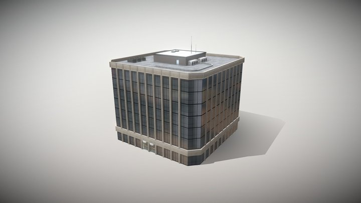 Low rise wall to wall office building 3D Model