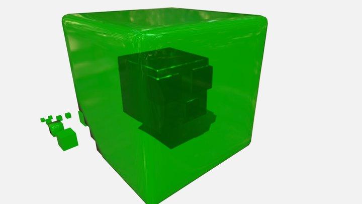 Slime Minecraft 3D Model