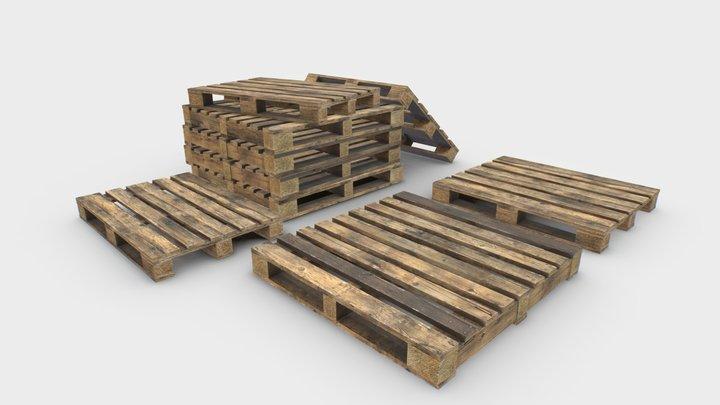 Industrial Wooden Pallet 5 3D Model
