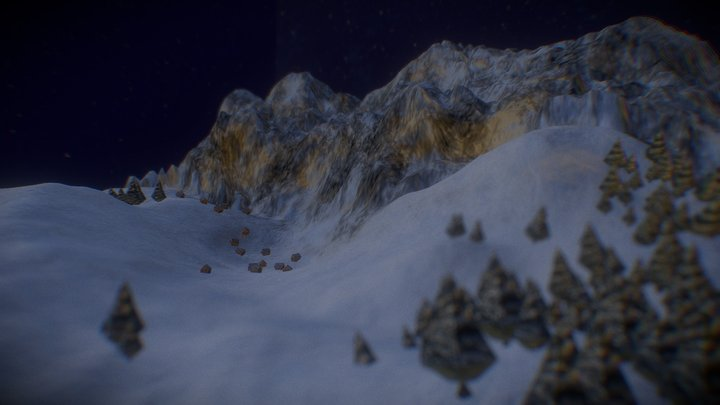 Snowy Landscape 3D Model