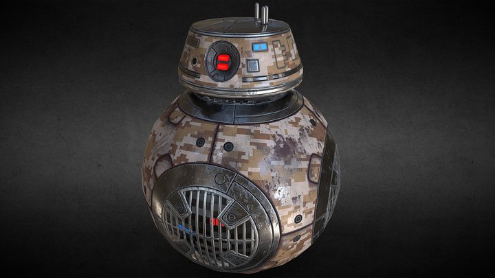 BB-9E Star Wars desert camouflage 3D Model