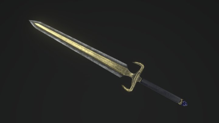 Aged Longsword 3D Model