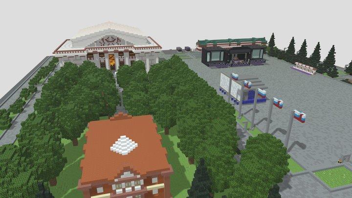 Minefest 2020 Minecraft Saratov 3D Model