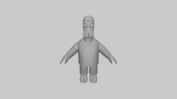 The Simpsons Game (2007) - Dr. Zoidberg 3D Model