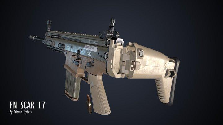 FN Scar 17 3D Model