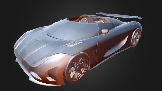 Carro koenigsegg agera r 3D Model