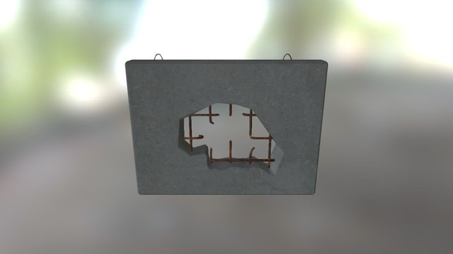 wall with hole 3D Model