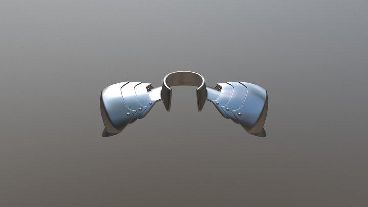"""Lancer """"Fate"""" Shoulder Armor 3D Model"""