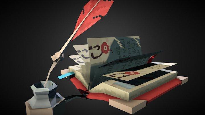 Book Of Ibis 3D Model
