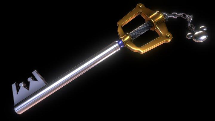 Kingdom Key - Kingdom Hearts 3D Model