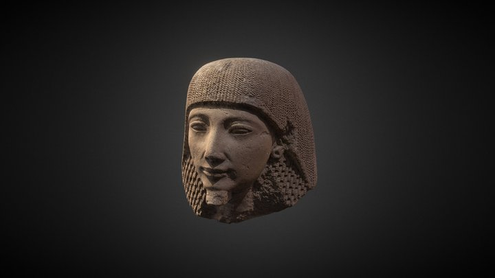 Fragment of private funerary statue 1295-1186 BC 3D Model
