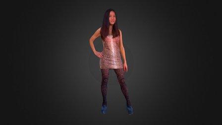 Mocha - shiny dress 3D Model