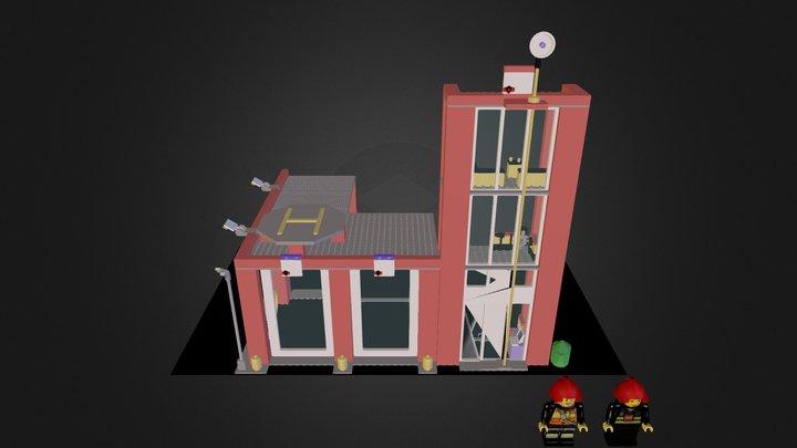 Fire Station LegoCity 3D Model