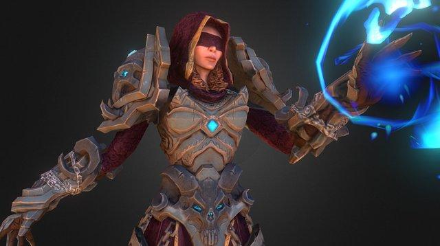 Priestess Of Skulls 3D Model