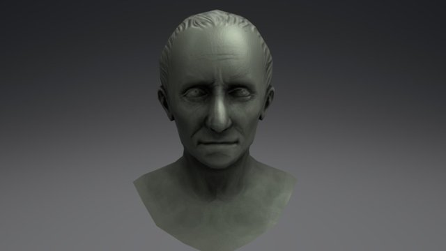 Cesar sculpture 3D Model