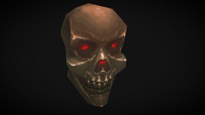 Quaked Skull 3D Model