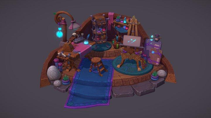 Night Elf Art Room 3D Model