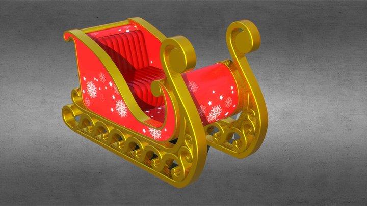 Sledding Claus 3D Model