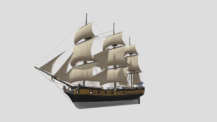 Russian archipelago frigate Svjatoi Nikolai 3D Model