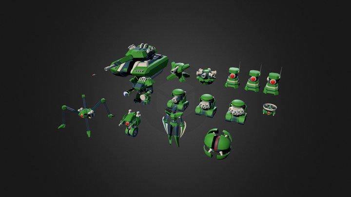 Sci Fi - Assorted Mechs/Turrets 3D Model