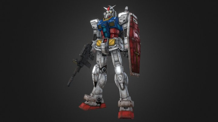 Gundam Rx 78-2 3D Model