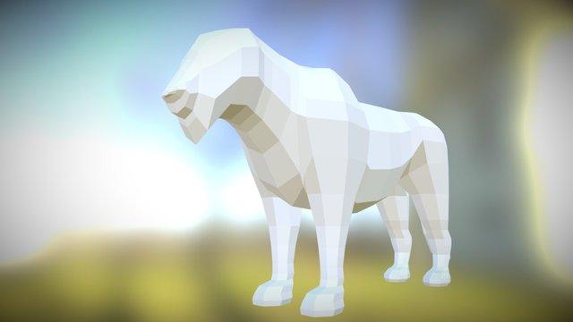 Lioness Low Poly 3D Model