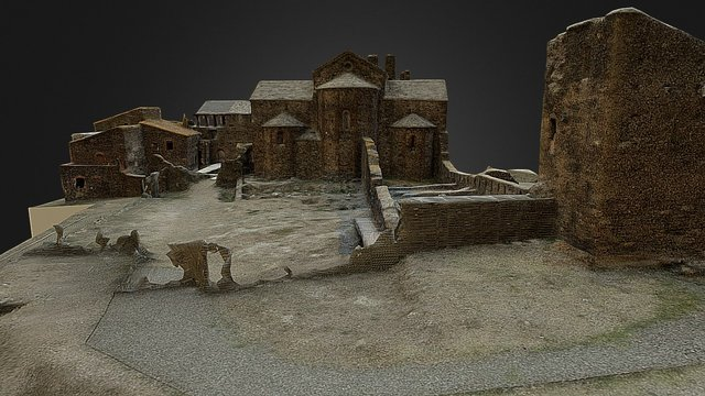 Monasterio San Quirce de Colera 3D Model