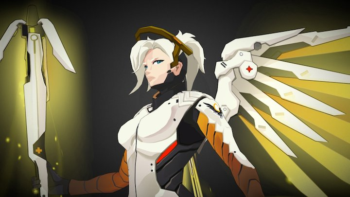 Overwatch Mercy Fanart 3D Model
